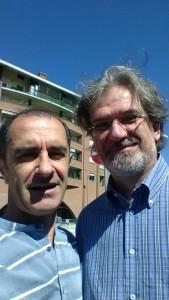 INGranda con l'Ing. Danilo Demarchi, di Saluzzo, professore di Elettronica al Politecnico di Torino